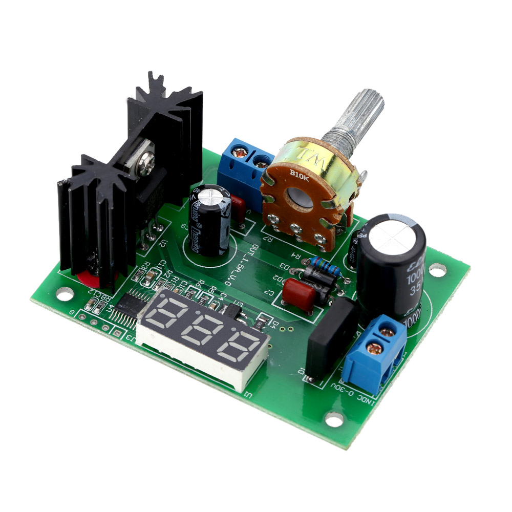 Lm317 Ac Dc Adjustable Voltage Regulator Step Down Power Supply Variable Circuit Module With Led Display