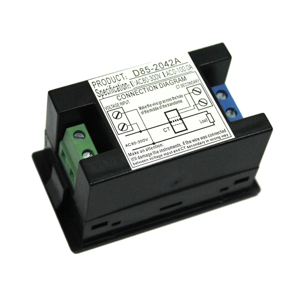 Mini Voltmeter Ammeter Digital Lcd Voltage Meter Current Wiring Diagram With Ct Transformer Ac80 300v Dual Display Electric Diagnostic