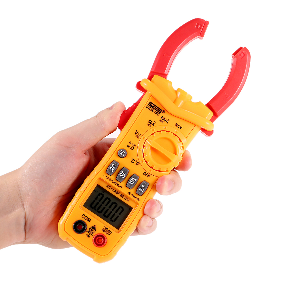 Ac Dc Digital Clamp Meter Electronic Multimeter Voltage Tester Multimeters Current Tongs Resistance Temperature Frequency Diagnostic Tool
