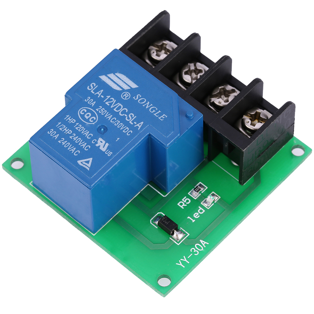 1 channel 30a high performance relay module optocoupler isolation relay switch control board dc 24v 12v