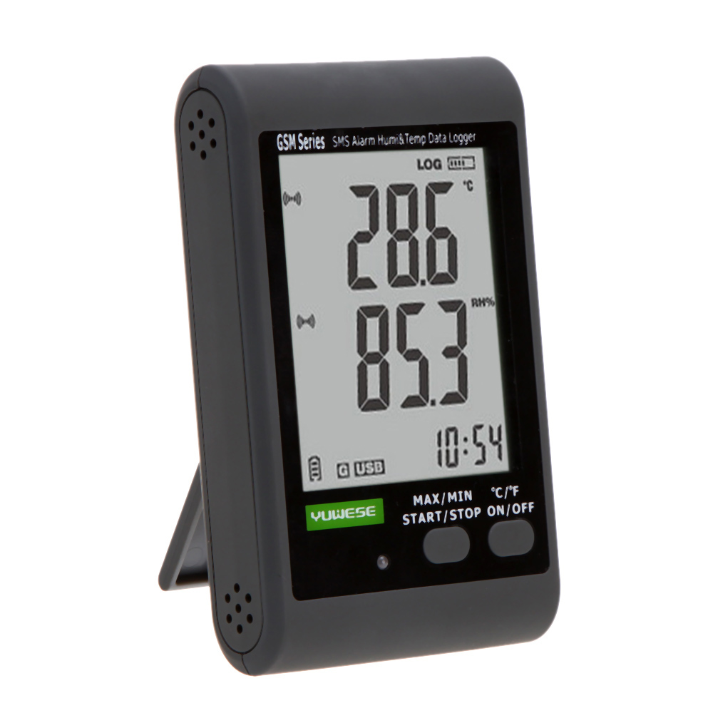 Recording Thermometers Data Logger : Gsm lcd digital intelligent thermometer hygrometer