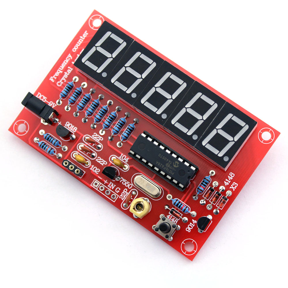 Frequency Counter Kit : Diy frequency meter cymometer kit mhz crystal oscillator