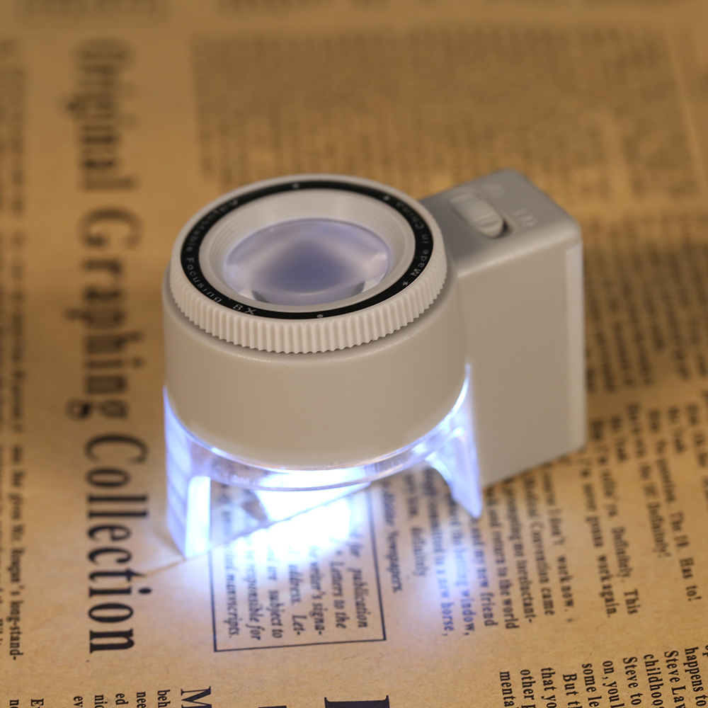 8X Adjustable Illuminated Stand Magnifier Loupe Lens Magnifying Glass With LED Light Scale Tool Lupa