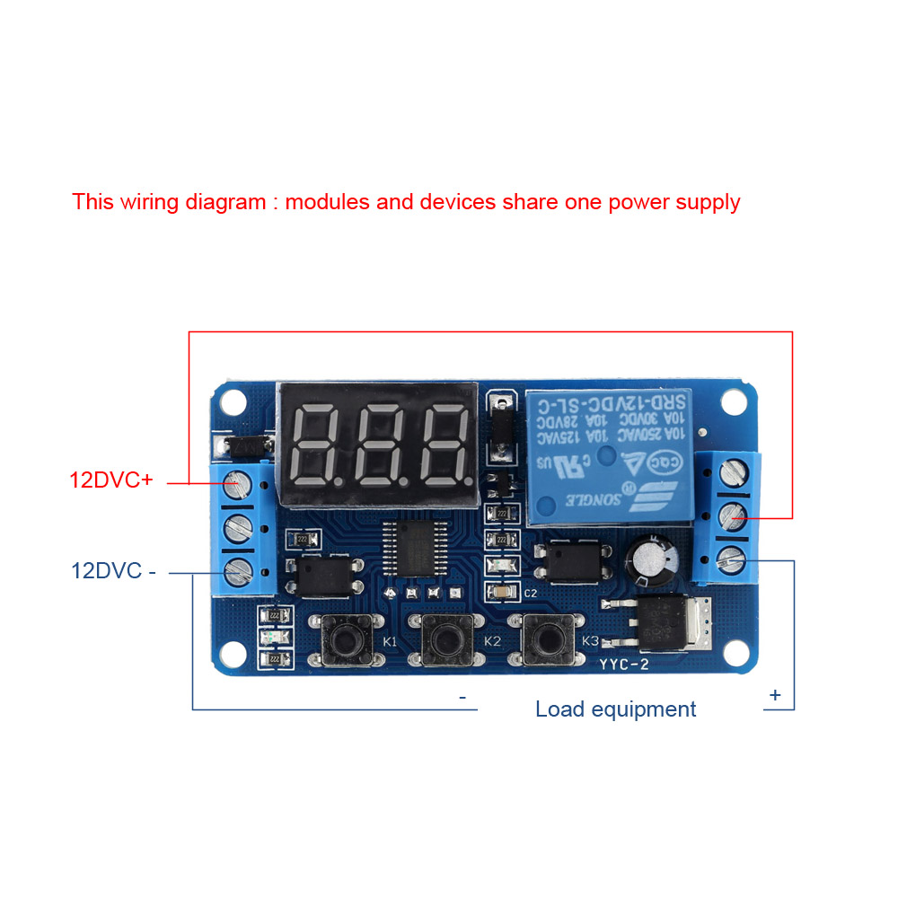 New Upgrades12v Led Timer Module Automation Delay Control Wiring A Relay Switch With Case High Quality