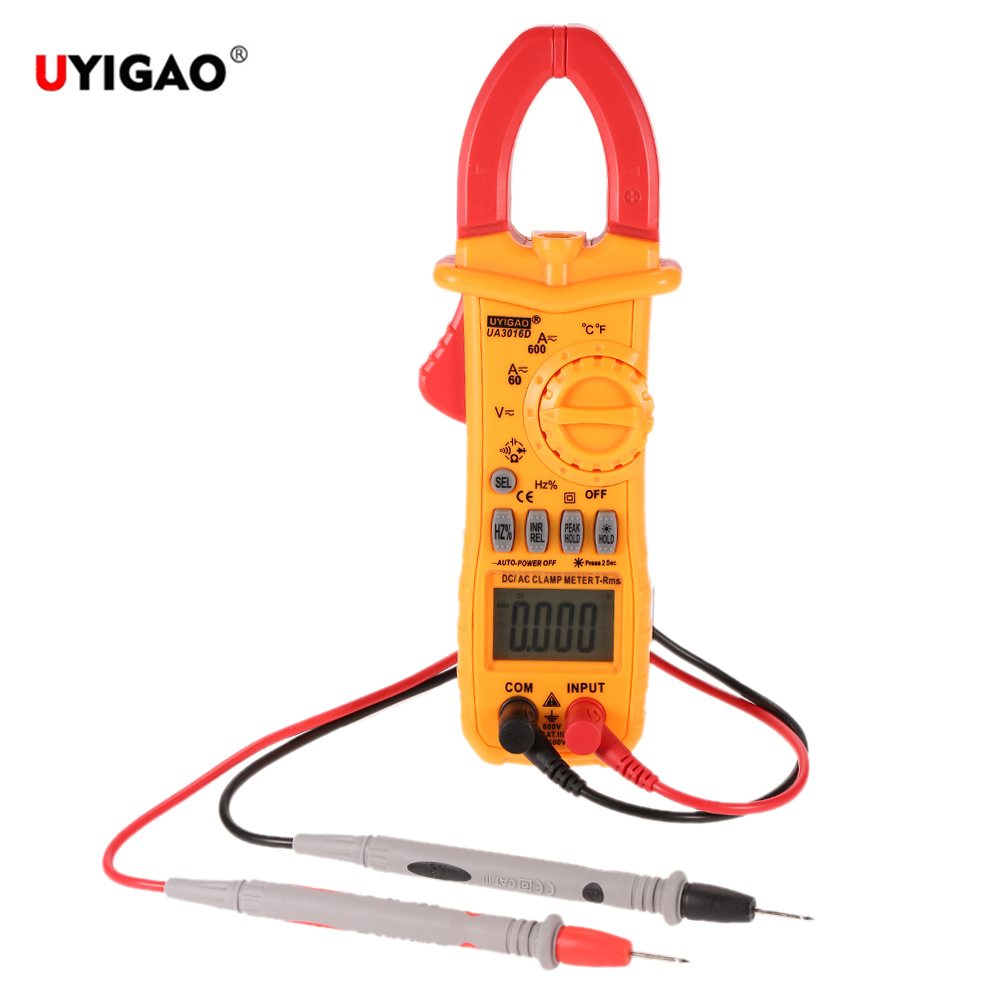 Ac Dc Handheld Digital Clamp Meter Electronic Multimeter Voltage And Circuits Current Resistance Temperature Frequency Surge Tester