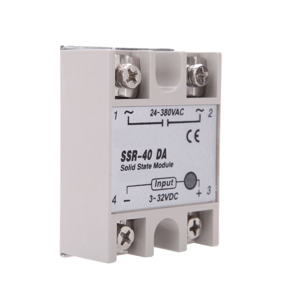 Ssr 40 Da Solid State Relay Module 40a 24v 380v For Pid Temperature Dc Circuit Controller 3 32v